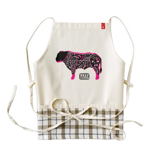 Beef Eater's Chart Zazzle HEART Apron