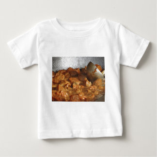 Beef goulash soup with metal serving spoon baby T-Shirt
