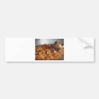 Beef goulash soup with metal serving spoon bumper sticker
