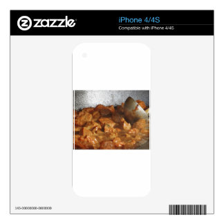 Beef goulash soup with metal serving spoon iPhone 4 skins