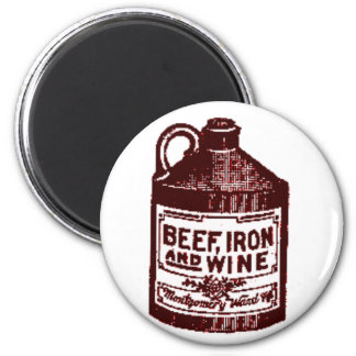 Beef, iron and wine magnet