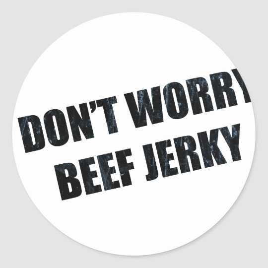 BEEF JERKY CLASSIC ROUND STICKER
