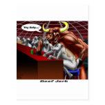Beef Jerky Origins Funny Cow & Bull Cartoon Gifts Postcard