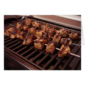 Beef Kabobs on Grill Card