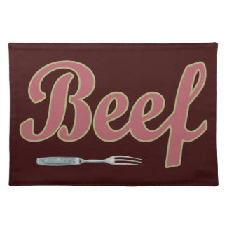 Beef n' Fork Cloth Placemat