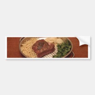 Beef, Noodles, Coriander and Chips Bumper Sticker