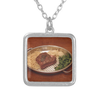 Beef, Noodles, Coriander and Chips Necklaces