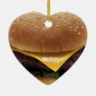 Beef Patti Sandwich Lunch Food Cheeseburger Ceramic Ornament