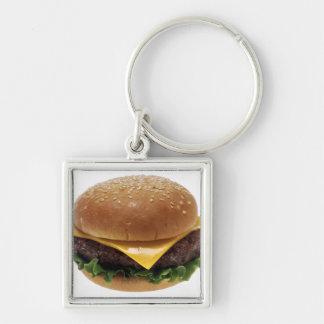 Beef Patti Sandwich Lunch Food Cheeseburger Keychain