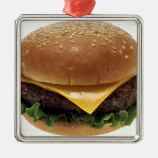 Beef Patti Sandwich Lunch Food Cheeseburger Metal Ornament