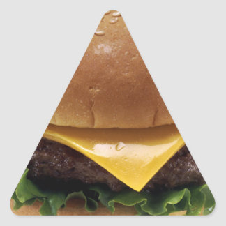 Beef Patti Sandwich Lunch Food Cheeseburger Triangle Sticker