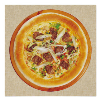Beef Pizza Poster