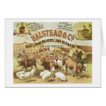 Beef & Pork Packers, c.1880 (colour litho) Greeting Card