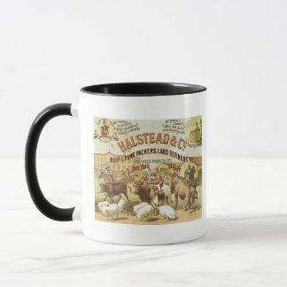 Beef & Pork Packers, c.1880 (colour litho) Mug