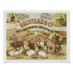 Beef & Pork Packers, c.1880 (colour litho) Poster