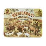 Beef & Pork Packers, c.1880 (colour litho) Vinyl Magnet