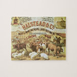 Beef & Pork Packers, c.1880 (colour litho) Puzzles