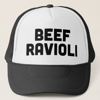 BEEF RAVIOLI fun slogan trucker hat