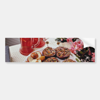 Beef rolls with boiled potatoes  flowers bumper sticker