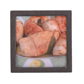 Beef rouladen with ham and cheese gift box