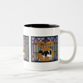 Beef sign Two-Tone coffee mug