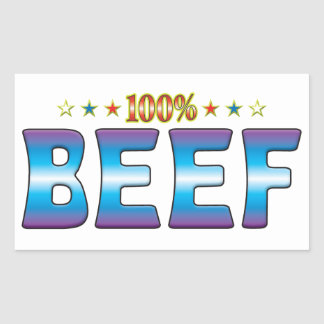 Beef Star Tag v2 Rectangle Stickers