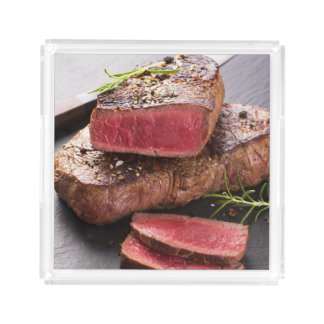 Beef steak acrylic tray