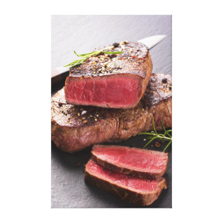 Beef steak canvas prints