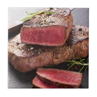 Beef steak ceramic tile