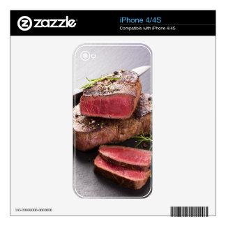 Beef steak iPhone 4 decals