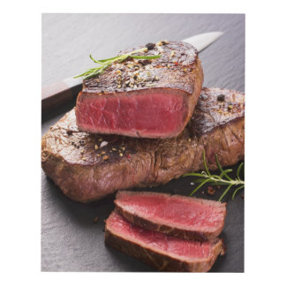 Beef steak panel wall art