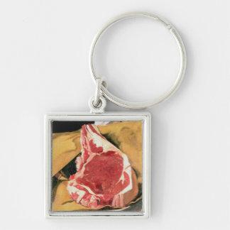 Beef Steak Vintage Art by Felix Vallotton Key Chain