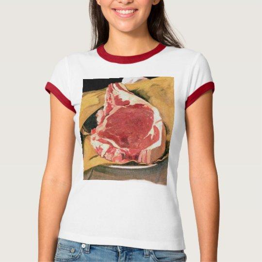 Beef Steak Vintage Art by Felix Vallotton T-Shirt