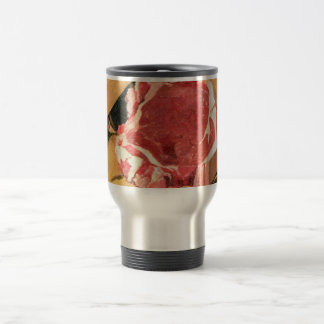 Beef Steak Vintage Art by Felix Vallotton Travel Mug