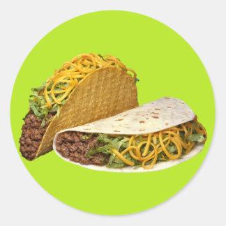 Beef Taco Round Sticker