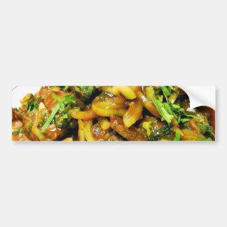 Beef Teriyaki Cooking Dinner Grilled Food Peapods Bumper Sticker