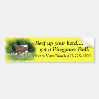 Beef Up Your Herd-add your name Car Bumper Sticker