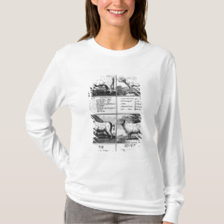 Beef, Veal, Pork, and Mutton Cuts, 1802 T-Shirt