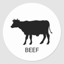 Beef Wedding Meal Choice Classic Round Sticker