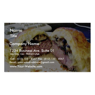 Beef Wellington Business Card