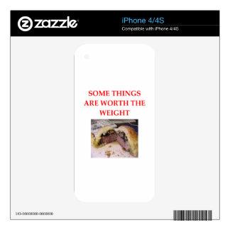 BEEF WELLINGTON iPhone 4S DECALS