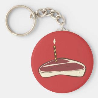Beefcake Basic Round Button Keychain