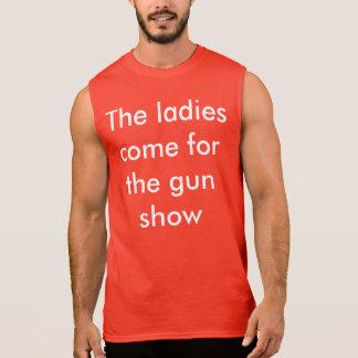 Beefcake de la demostración de arma camisetas sin mangas