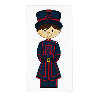 Beefeater Guard Sticker Label