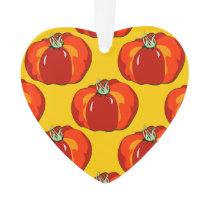 Beefsteak Tomato Pattern Ornament