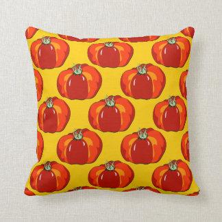 Beefsteak Tomato Pattern Throw Pillow