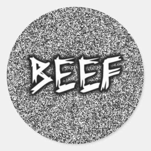 BEEFTV CLASSIC ROUND STICKER