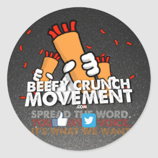 Beefy Crunch Movement Large Stickers!