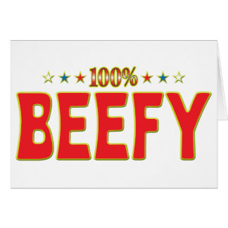 Beefy Star Tag Greeting Cards