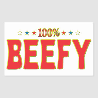Beefy Star Tag Rectangular Sticker